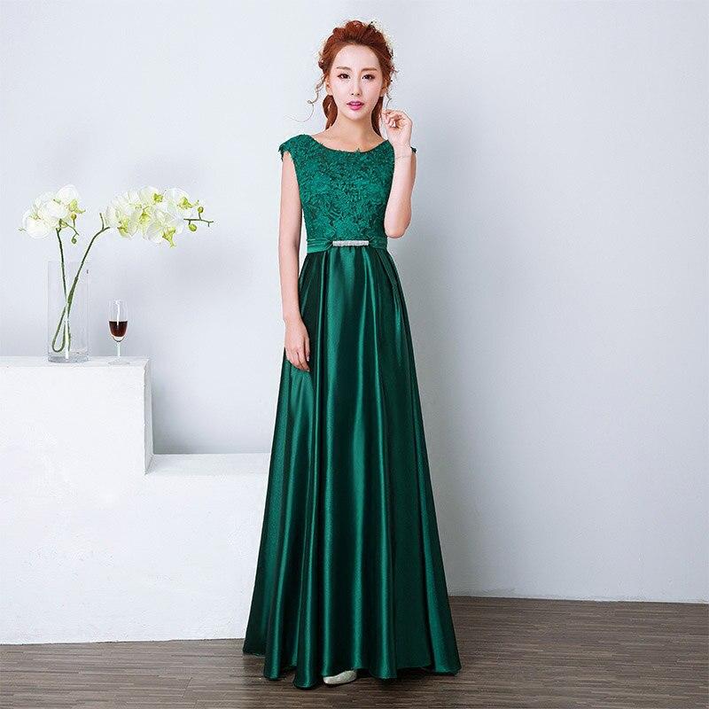 Элегантное вечернее платье с длинным аппликации платье для банкета, вечеринки Потрясающие сатиновое платье для выпускного вечера; Robe De Soiree vestido de festa - Цвет: Зеленый