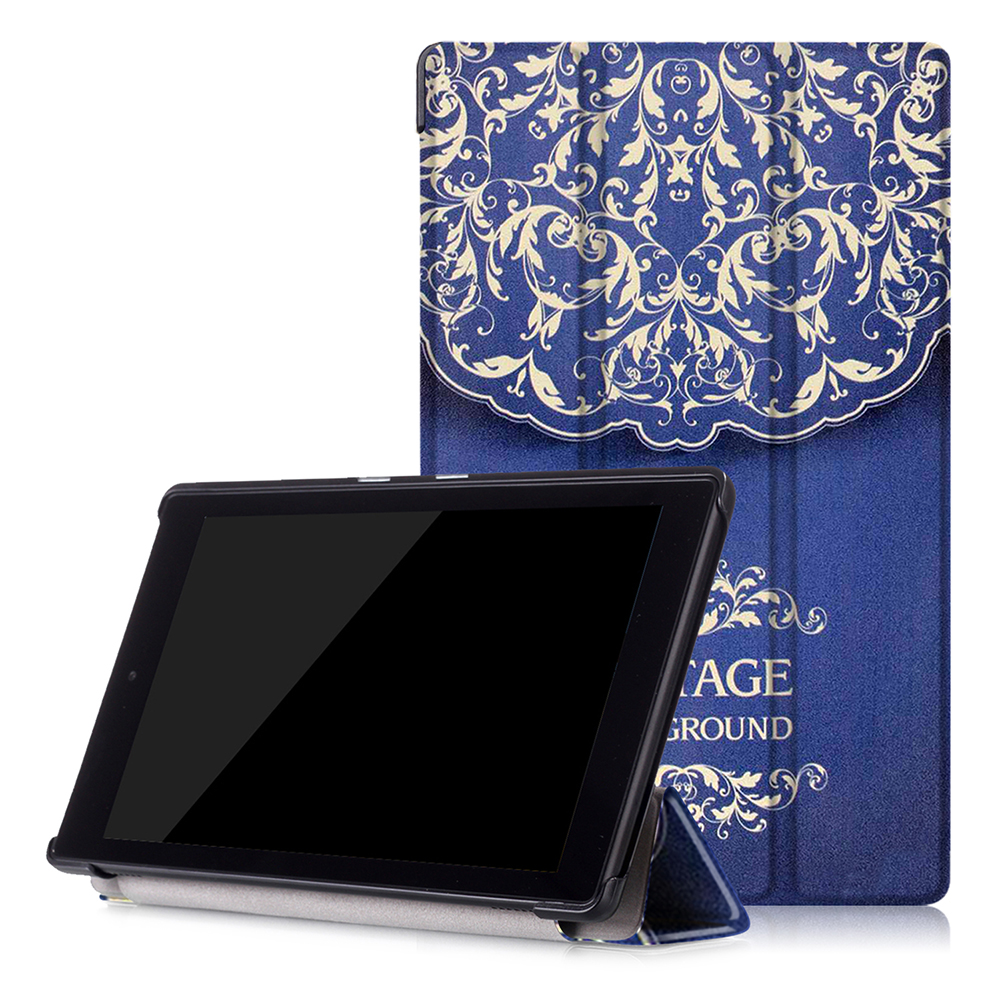 for new Amazon fire hd 8 inch tablet smart cover 2016 6th generation tablet PU leather