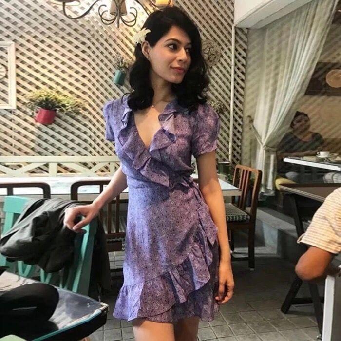 2018 Casual Party Women Dresses Tunic Beach Summer Purple Bohemian Mini Short Flower Dress Clothe Sundresses Floral Elegant Prom day dress