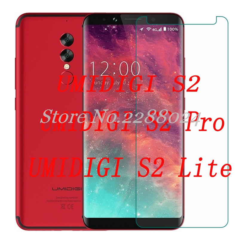 Smartphone 9H Tempered Glass UMI for UMIDIGI S2 / S2 Lite / Pro Explosion-proof Protective Film Screen Protector cover phone