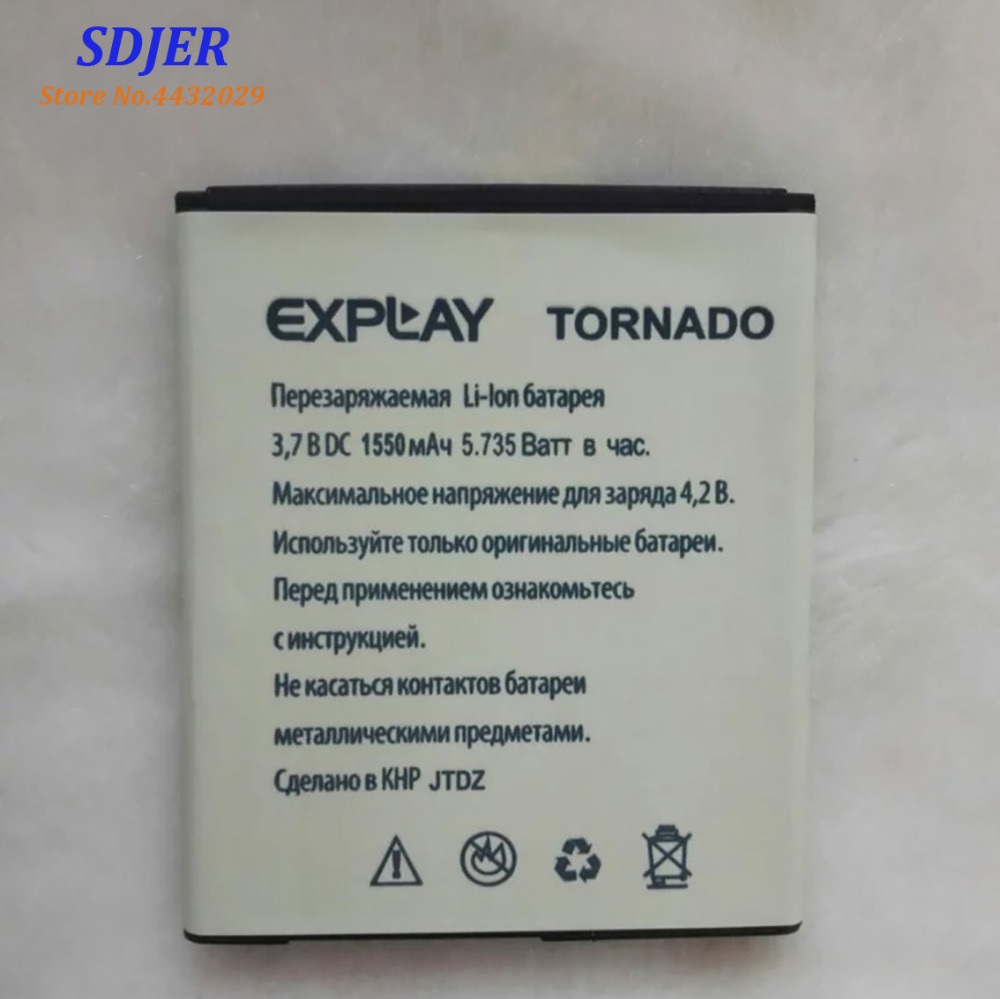 Battery Explay Tornado Bateria Mobile-Phone 1550mah for Rechargeable Accumulator In-Stock title=
