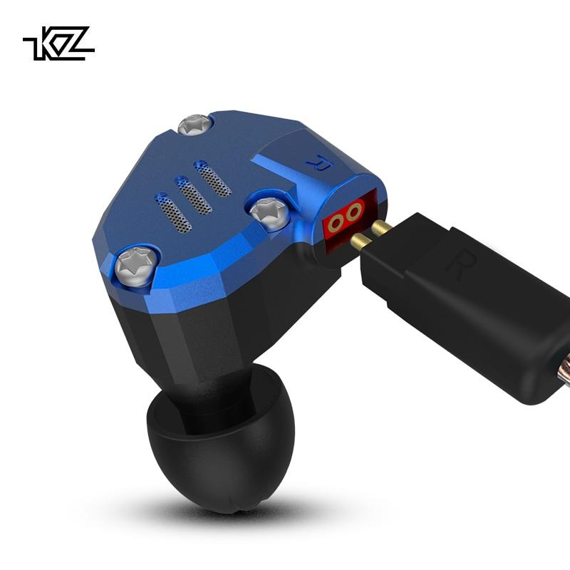 KZ ZS7 auriculares 4BA + 1DD híbrido en la oreja auriculares HIFI Bass auriculares DJ Monitor de auricular auriculares KZ ZS6 AS10 ZST ES4 ED16 BA10 - 2