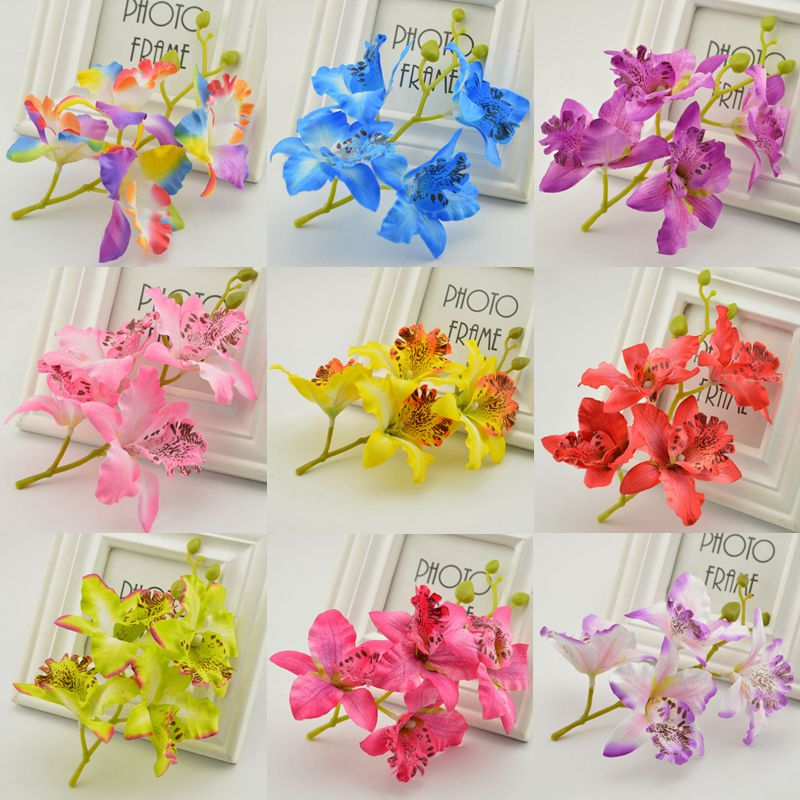 1pcs Wedding Phalaenopsis Butterfly Moth Orchid Fake Orchids Flower