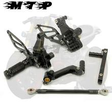 Autobike ARS-999-BK Motorcycle CNC Aluminum Rear Sets Foot Pedals Pegs Rearsets black For Ducati 999 949 749 All year black