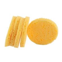 Esponja de pulpa de madera blanda, compresa de celulosa, esponja cosmética para lavado Facial, cuidado Facial, herramientas de limpieza, desmaquillante, 10 Uds.