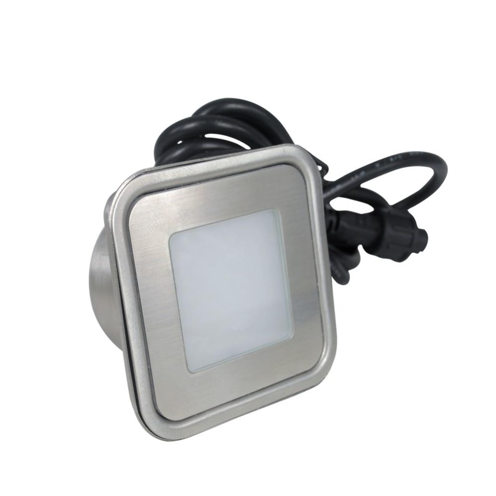 r G B Y Ww Cw W Rgb Lights & Lighting Straightforward Stainless Steel 0.6w Led Inground Lamp Dc12v Outdoor Stair Light With Insert Box Set Of 10