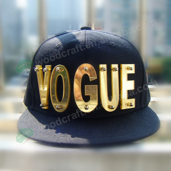 3D VOGUE letters Bolted spikes rivets HipHop Hat Flat Peak Snapback cap baseball bat