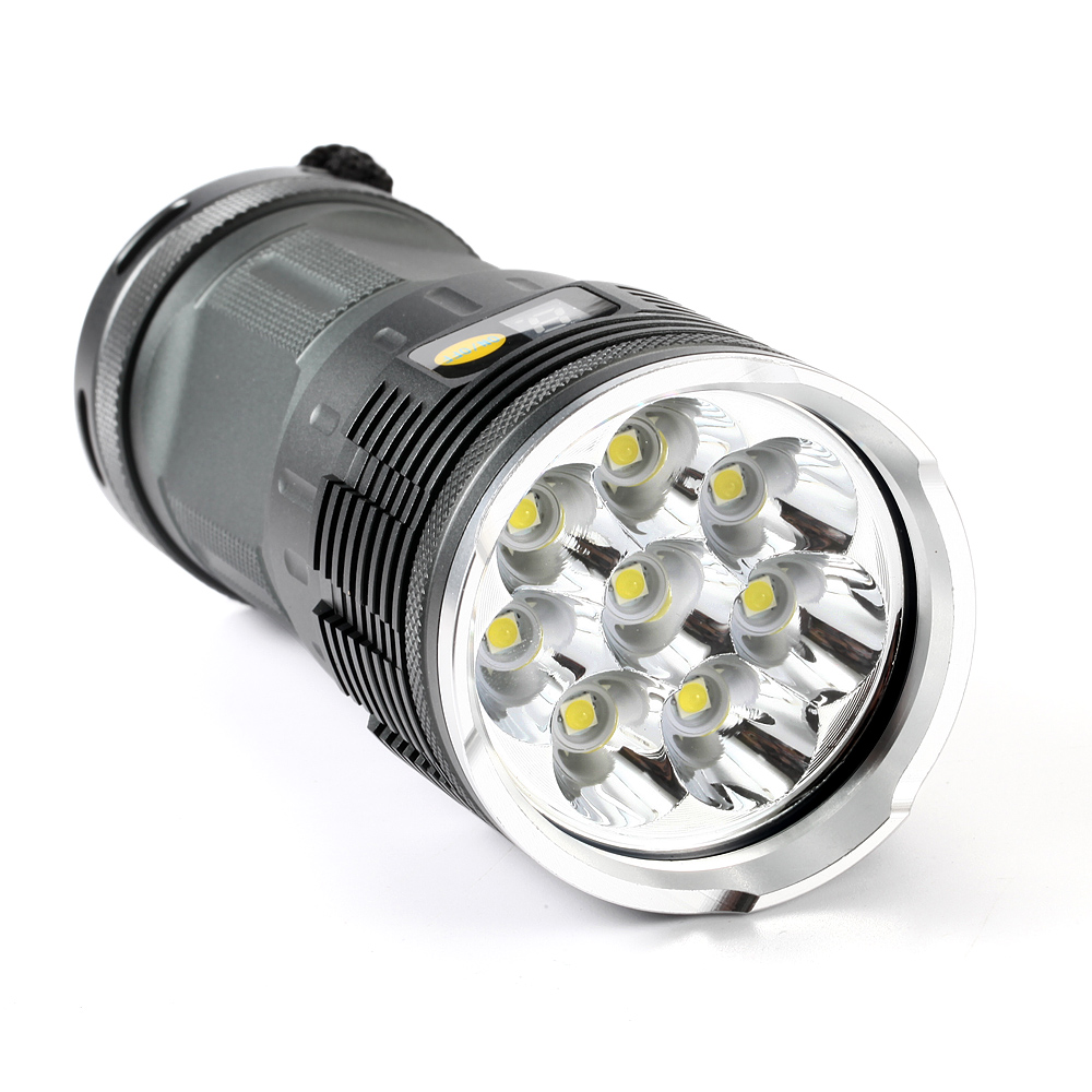 20000 Lumens Hard Light Led Flashlight 8xCREE XM-L L2 Waterproof Torch/4x18650 Battery /Charger camping lamp The new listing 14t6 torch led flashlight 65000 lumens lamp lights 14 xm l t6 flash light floodlight camping lantern hunting 3x 18650 charger