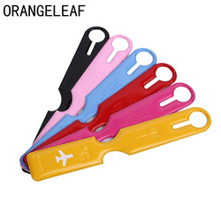 Creative Airplane PVC Travel Luggage Cover ID Name Address Identify Tags Straps Suitcase Baggage Boarding Tag Travel Accessories