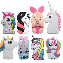 3D Cartoon Cat Case For iPhone X 4 4S 5S SE 5C 6 6S 7 8 Plus 5.5″ Cover Unicorn Bear Bunny Pig Horse