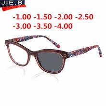 نظارات بمادة الخلات الإطار النساء الانتهاء الشمس فوتوكروميك قصر النظر إطارات النظارات البصرية وصفة طبية العدسات قصر النظر