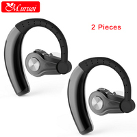 M Uruoi 1 Combo 2 Pieces Wireless Bluetooth Headphone Ear Monitor Earphone With Microphone Ear Headset