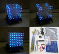 New 3D 8*8*8 3mm White Blue Ray LightSquared DIY Kit LED Light Cube