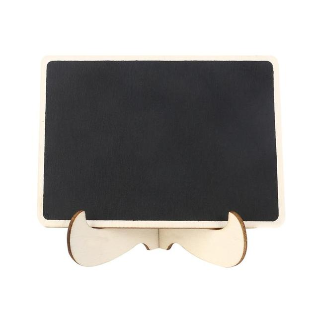 1 Set Mini Chalkboard Easel Wooden Miniature Blackboard Sign With Stand Message Board For Wedding Table