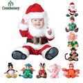 Mamelucos del bebé Animal Divertido Pirata Pingüino de Santa Claus vestido de Una sola pieza Del Niño Del Dinosaurio de Navidad Carnaval de Disfraces de Halloween
