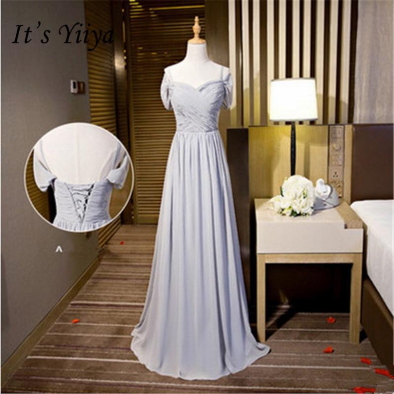 It's YiiYa New Spaghetti Strap Strapless A-line   Bridesmaid     Dresses   Elegant Floor-length Slim More Styles   Dress   B060