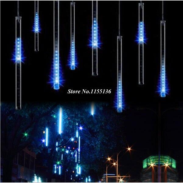 online shop 20cm 8pcsset led christmas lights outdoor meteor shower rain tubes eu us