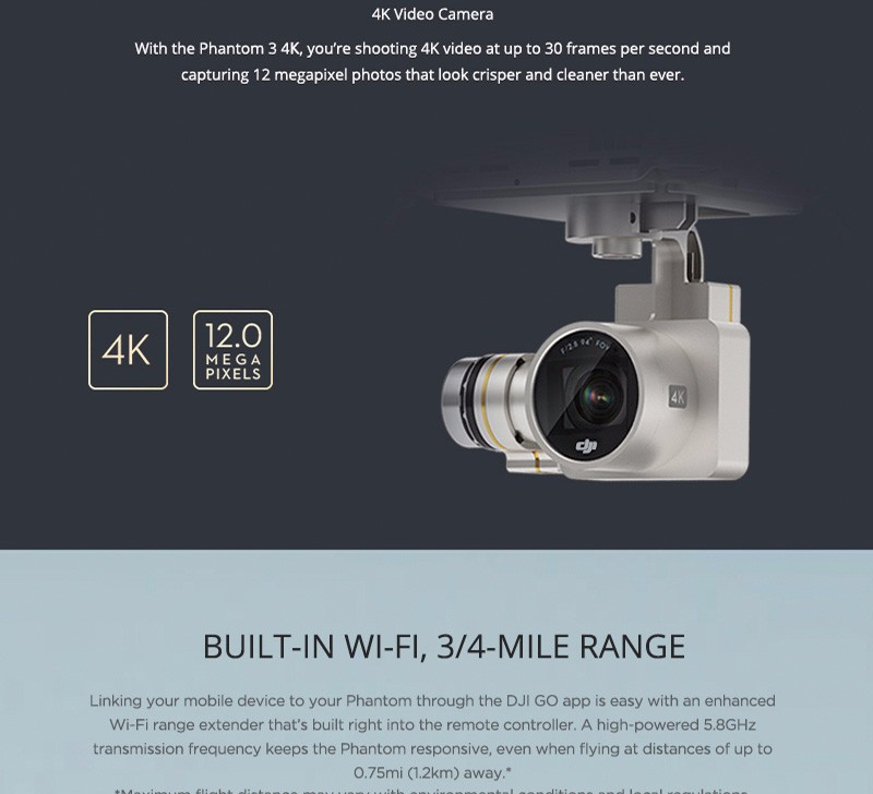 DJI Phantom 3 4k Version Rc Drone with Camera HD 4k 3Aixs Gimbal FPV Quadcopter VS DJI Phantom 3 Professionals Fast Shipping