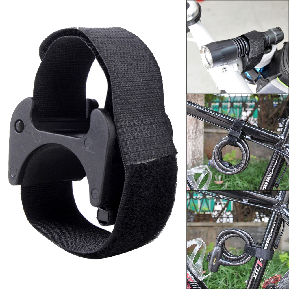 Bike Flashlight Clip LED Torch Strap With Adhesive Strap Bicycle Flashlight Mount Bracket Light Clip Clamp For Bicycle Accessory