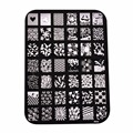 42 Patterns Stainless Steel Nail Art Stamping Plates Nail Seal Manicure Polaco Printer Tool Templates Nail Stamp Stencils 2016