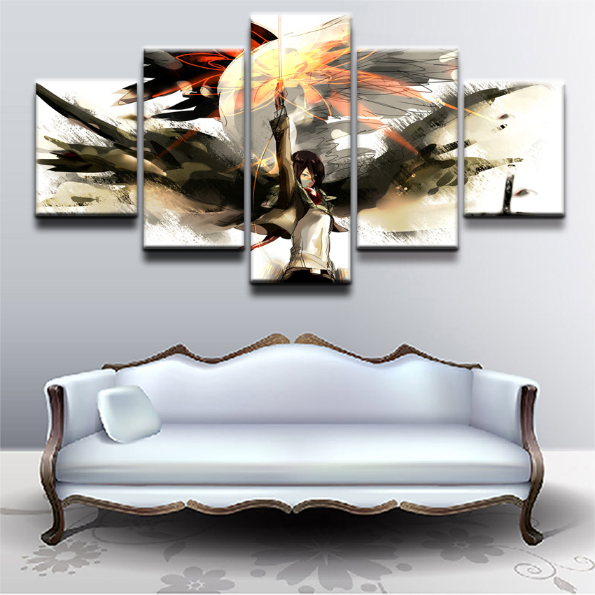 Modular Canvas Paintings Wall Art Home Room Decor 5 Pieces