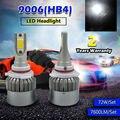 TAITIAN COB 72W 7600LM 6000K 9006 HB4 Auto Car LED Headlight Upgrade Bulb KIT WHITE