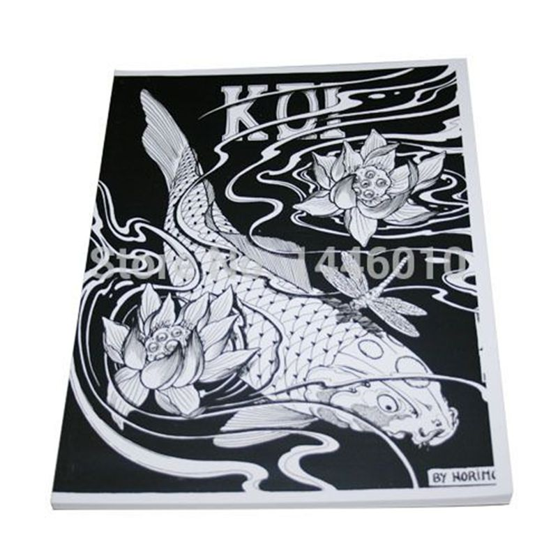 Popular traditional tattoo flash art buy cheap traditional for Japanese koi wholesale
