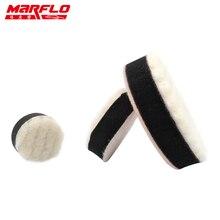 Marflo Sponge Polishing Pad Waxing Buffing Polishing Pad Kit 1.2″ 2″ 3″ Wool Washing 6pcs in PP Box by Brilliatech