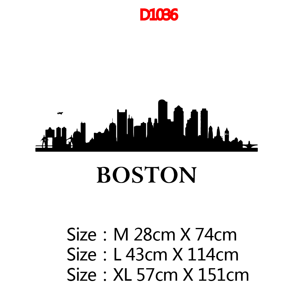 Custom boston Wall Sticker Home Decor Decoration For Kids Rooms Nursery Room Decor Wall Decoration Murals in Wall Stickers from Home Garden