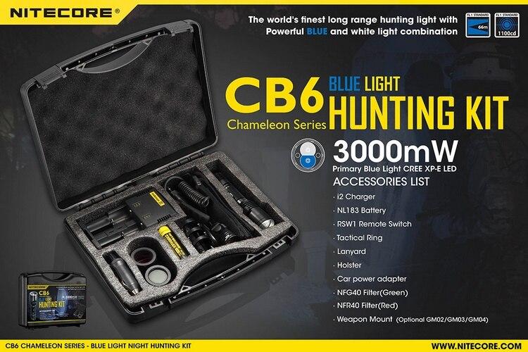 led cb6 noite kit de caça ao