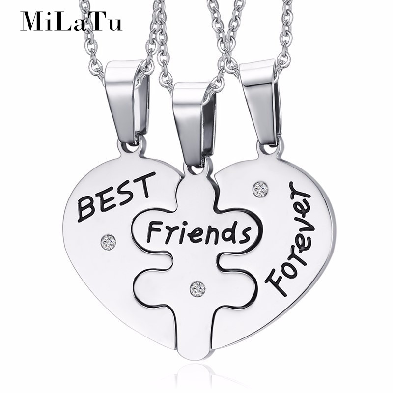 MiLaTu Unisex Jewelry Love Heart Friendss