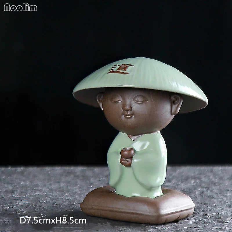 Noolim Biksu Kecil Keramik Teh Hewan Peliharaan Teh Meja Mini Zen Ornamen Kreatif Kung Fu Tea Set Aksesoris Dekorasi Desktop