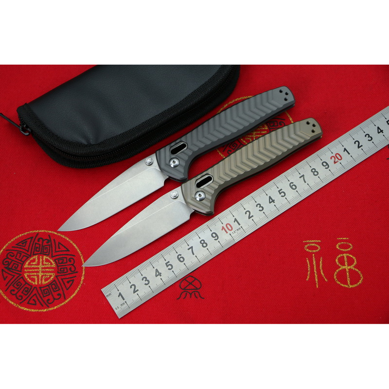 LOVOCOO 781 M390 Steel Titanium handle Foldable knife outdoor camping pocket Survival Hunting Kitchen Knives utility