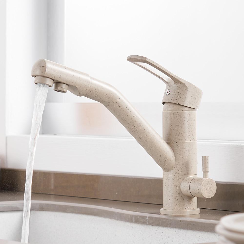 Cuisine purifier robinets mélangeur robinet 360 degrés Rotation avec Purification de l'eau caractéristiques mélangeur robinet grue pour WF-0182 de cuisine - 3