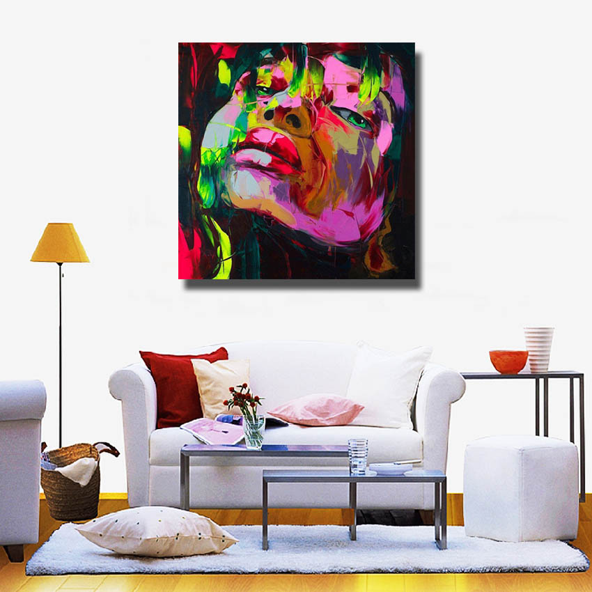 Painting Supplies Abstract Face Painting on Canvas Living Room Wall Decor  Portrait Art Artist Oil Painting No framed-in Painting & Calligraphy from  Home ...