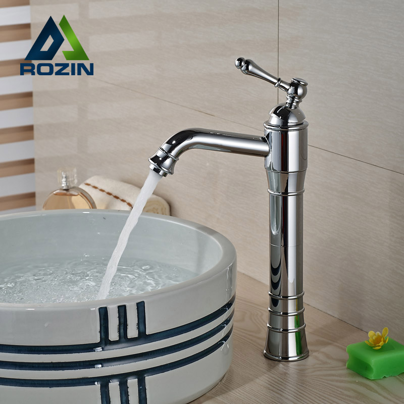 Single Handle Bathroom Basin Vessel Sink Faucet Hot Cold Water Mixer Taps Chrome Finish One Hole micoe hot and cold water basin faucet mixer single handle single hole modern style chrome tap square multi function m hc203