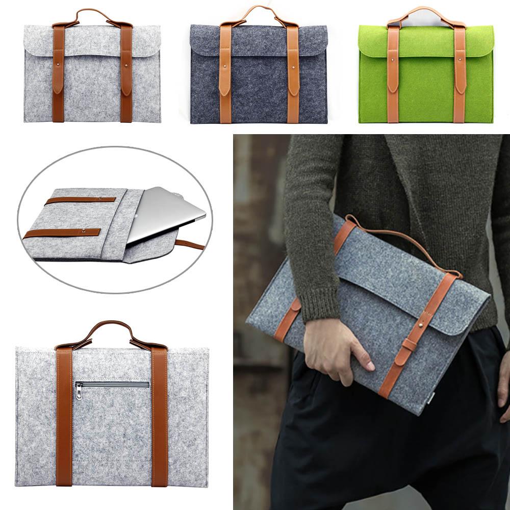 New Universal Soft Wool Felt Belt Laptop Case For MacBook Air Pro 11