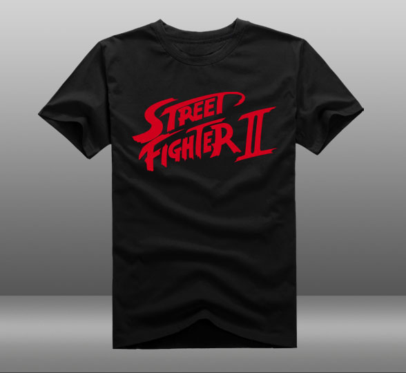 New Street Fighter 2 t-shirt Cartoon men t shirt summer cotton Tees Tops
