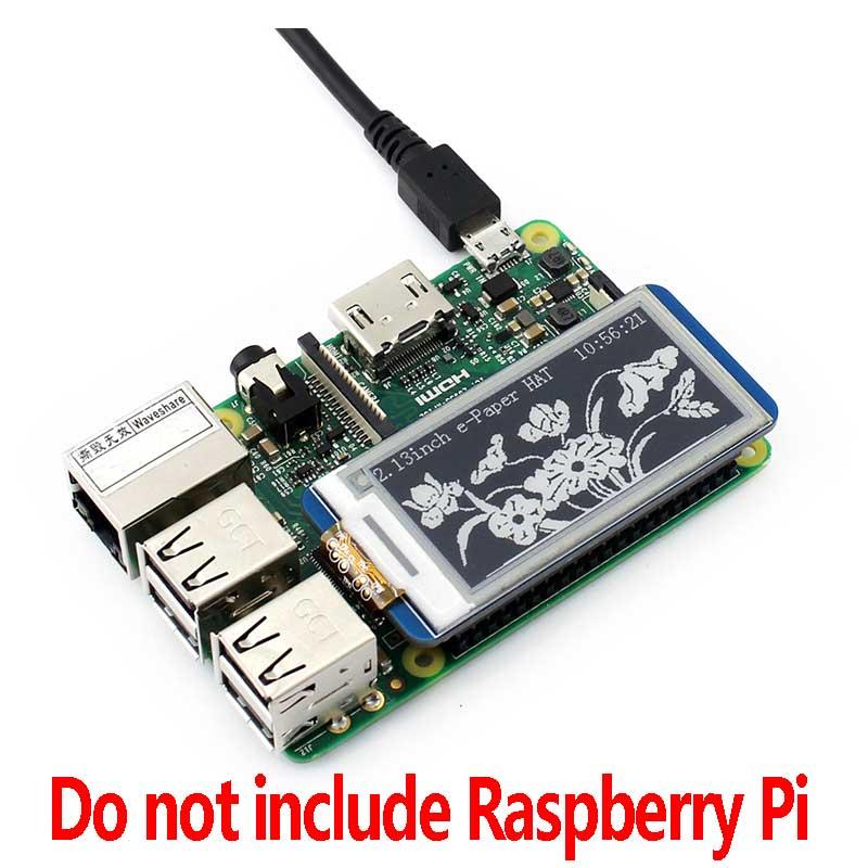 2.13Inch E-Paper MV Waveshare 3.3V E-Paper Touch Display HAT für Raspberry Pi