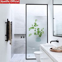 50x200cm Green plant pattern glass film living room kitchen office shop bathroom door stickers opaque privacy window film N3