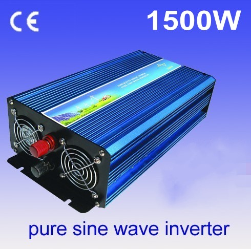 1500W pure sine wave power inverter off grid wind/solar inverter. 12/24/48/ DC to 100/110/120/220/230/240V AC wind solar hybrid system dc ac off grid 12v 220v pure sine wave 1500w inverter