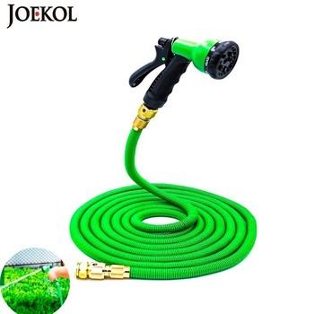 Gorąca sprzedaż 25Ft-200Ft rozbudowy wąż ogrodowy magia elastyczny wąż do wody ue węże do podlewania rury z pistoletu myjnia samochodowa tanie i dobre opinie JOEKOL Wąż wody Regulowany Ogród zwijadła RUBBER JK-GH Garden Hose Reels