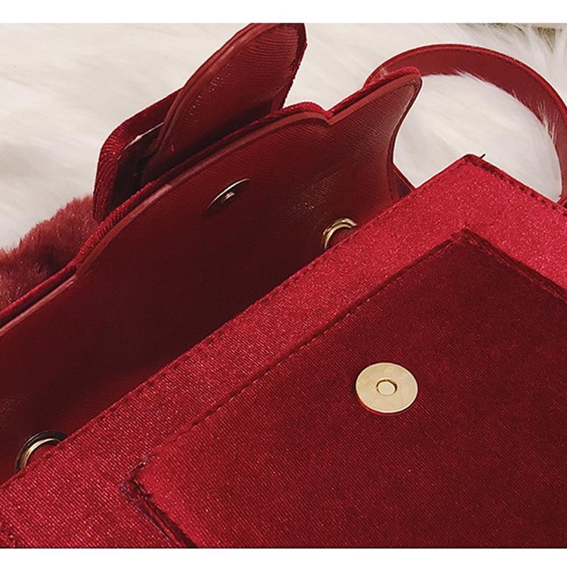 Borsa Piccola Borse Selvaggio Coreano Velluto Del Ragazze Donne red black Signore Partito Sacchetto Messaggero Piazza Notte Delle A Modo Spalla Di Carino Pink Stile Ruique qvU7wYxfY