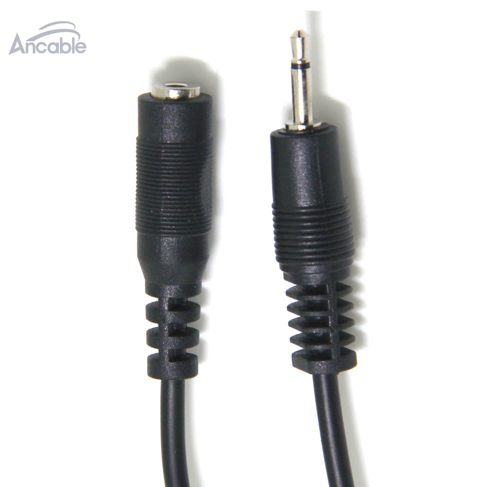 Ancable 2-Pack 6-Feet 2.5mm TS Monaural Mini Mono Audio Plug Jack Connector Male to Female Extension Cable for Harmony IR Blaster