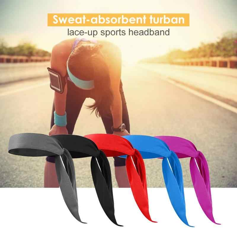1PC Outdoor Head Bands Sweat-absorbing Headband Sport Hairbands Pirate Scarf Lace-up sports Yoga Running Tennis Headband Cap