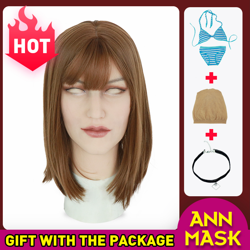Realmaskmaster silicone Ann mask artificial realistic skin mask for crossdresser transgender male shemale Drag Queen latex sexy