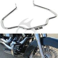 Chrome Black Engine Guard Bar For Harley Fatboy Heritage Softail Springer 00 17 FLSTNSE FLSTN FLSTF Classic FLSTC Slim
