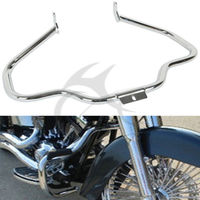 Chrome Black Engine Guard Bar For Harley Fatboy Heritage Softail Springer 00 17 FLSTNSE FLSTN FLSTF