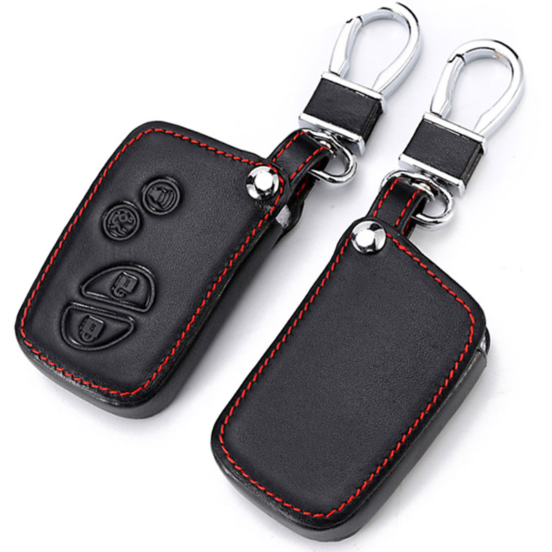 Leather car Key Cover For Lexus CT200H <font><b>GX400</b></font> GX460 IS250 IS300C RX270 ES240 ES350 LS460 GS300 450h 460h Case Car Accessories image
