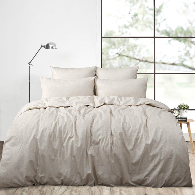 4pcs Real Washed Linen Duvet Cover Set King French Bedding Sets Pure Sheets Queen Size
